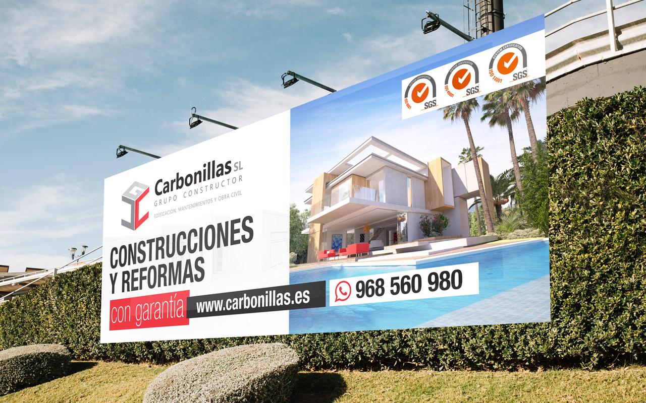 diseño valla carretera publicitaria promoción inmobiliaria