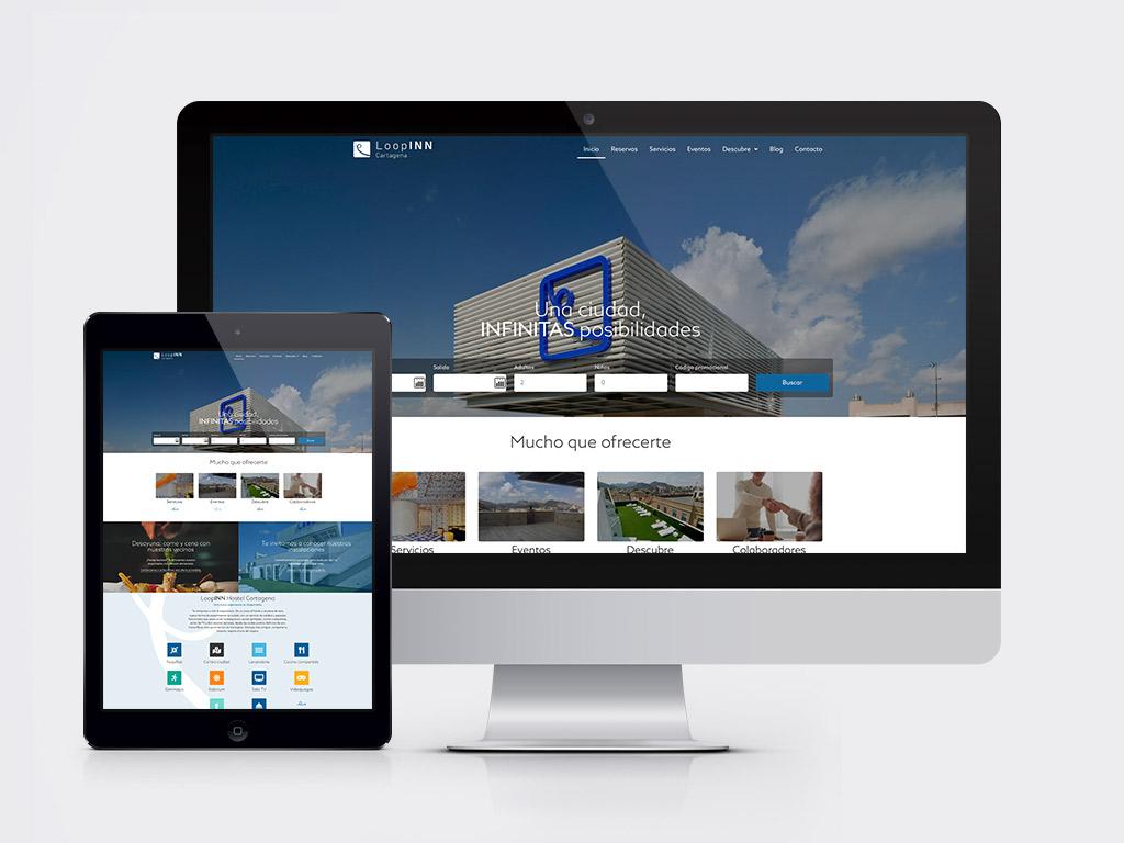 diseño página web alojamiento hostel