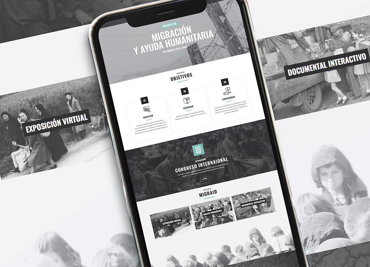 diseño página web proyecto europeo Migraid