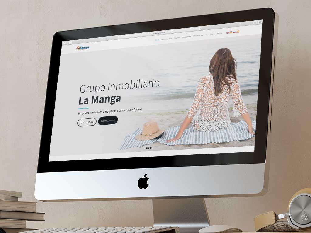 ejemplo diseño página web innovadora moderno minimalista